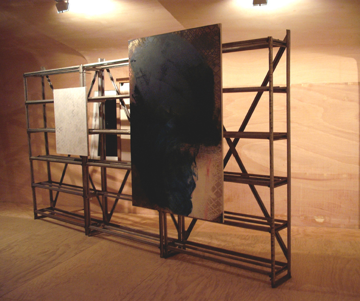 "<p><span style=""font-size: 8pt;"">Installation view, News from Nowhere, Jan Koch, Hannu Prinz, Renaud Regnery, REH Kunst, Berlin, 2011</span></p>"
