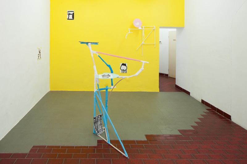 "<p><span style=""font-size: 10.6667px;"">Installation view, Cornelia Baltes & Jean Philippe Dordolo, Gone Fishing, Centrum 2016, Photo Joe Clark</span></p>"