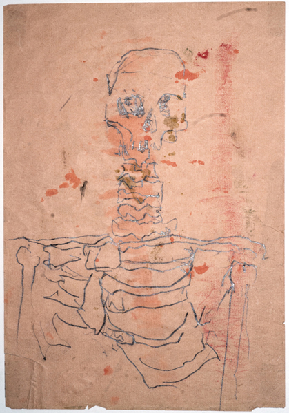 "<p style=""text-align: center;""><span style=""font-size: 8pt;"">Thomas Zipp, o.T., 1978 (12 years), Pencil and ink on blotting paper, 29,7 x 21 cm</span></p>"